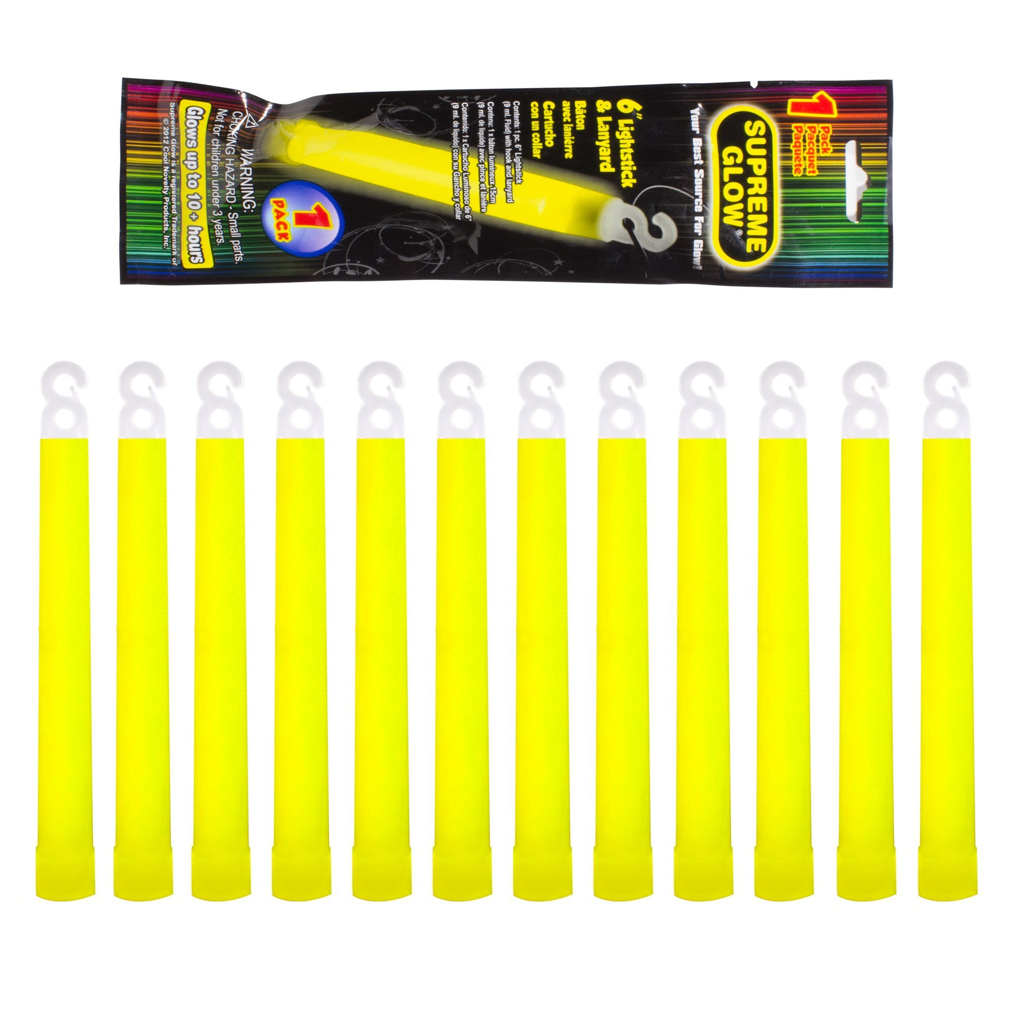 Industrial Grade 12 hour Illumination Emergency Safety Chemical Light Glow Sticks (12 Pack)