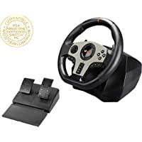 Subsonic - V900 Steering Wheel with Pedals and Gearshift Paddles For Playstation 4 - PS4 Slim/ Pro - Xbox One S - Nintendo Switch - PC - PS3 (Compatible with all Racing Games) (PS4//xbox_one//)