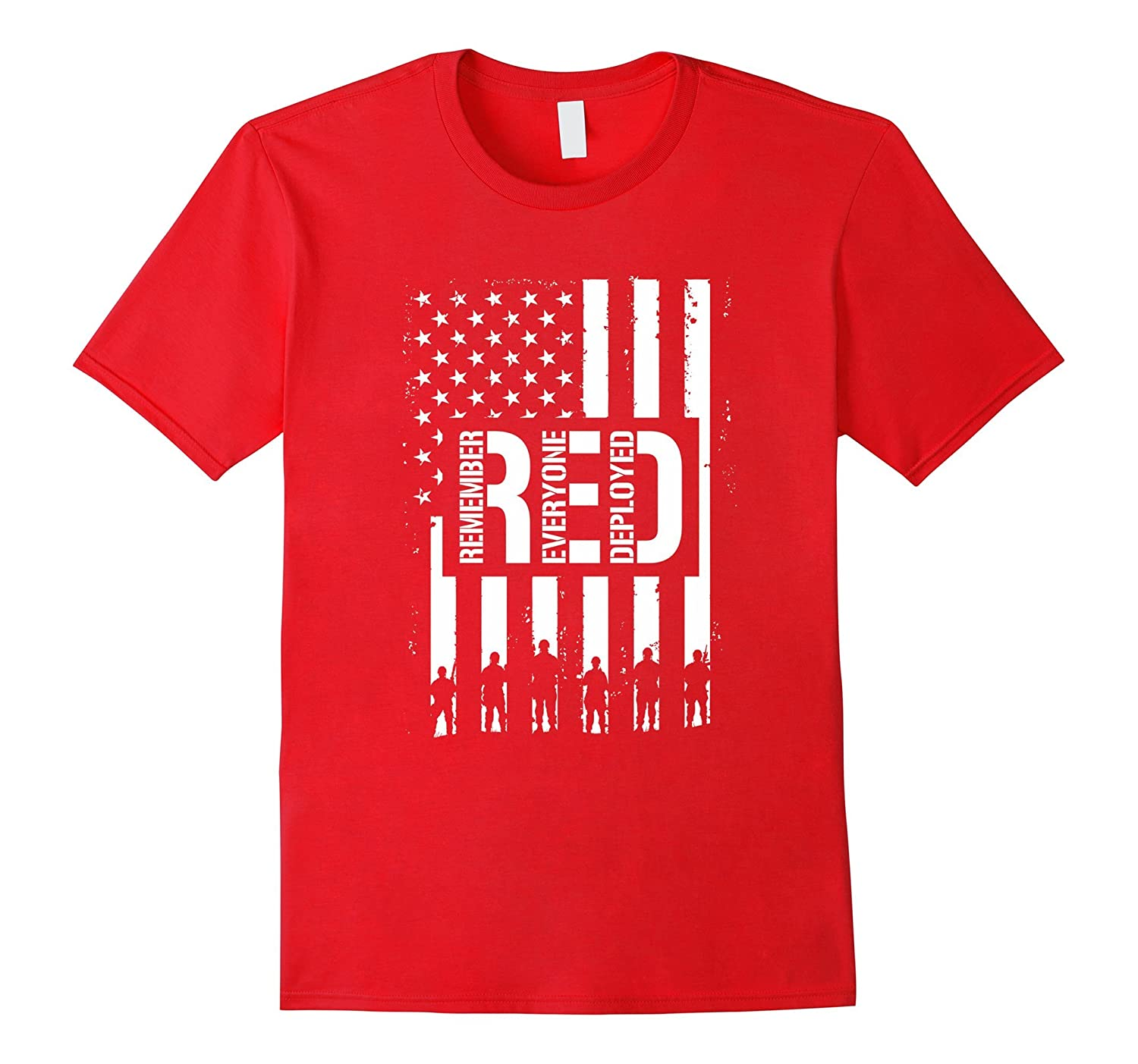 R.E.D. Remember Wear Everyone Red Deployed T-Shirt-BN