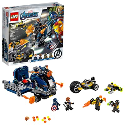 LEGO Marvel Avengers Truck Take-Down 76143 Captain America and Hawkeye Superhero Action, Cool Minifigures and Vehicles, New 2020 (477 Pieces): Toys & Games