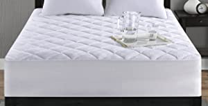 SureFit Essential Waterproof 1 Cotton Twin Mattress Pad Cover, White