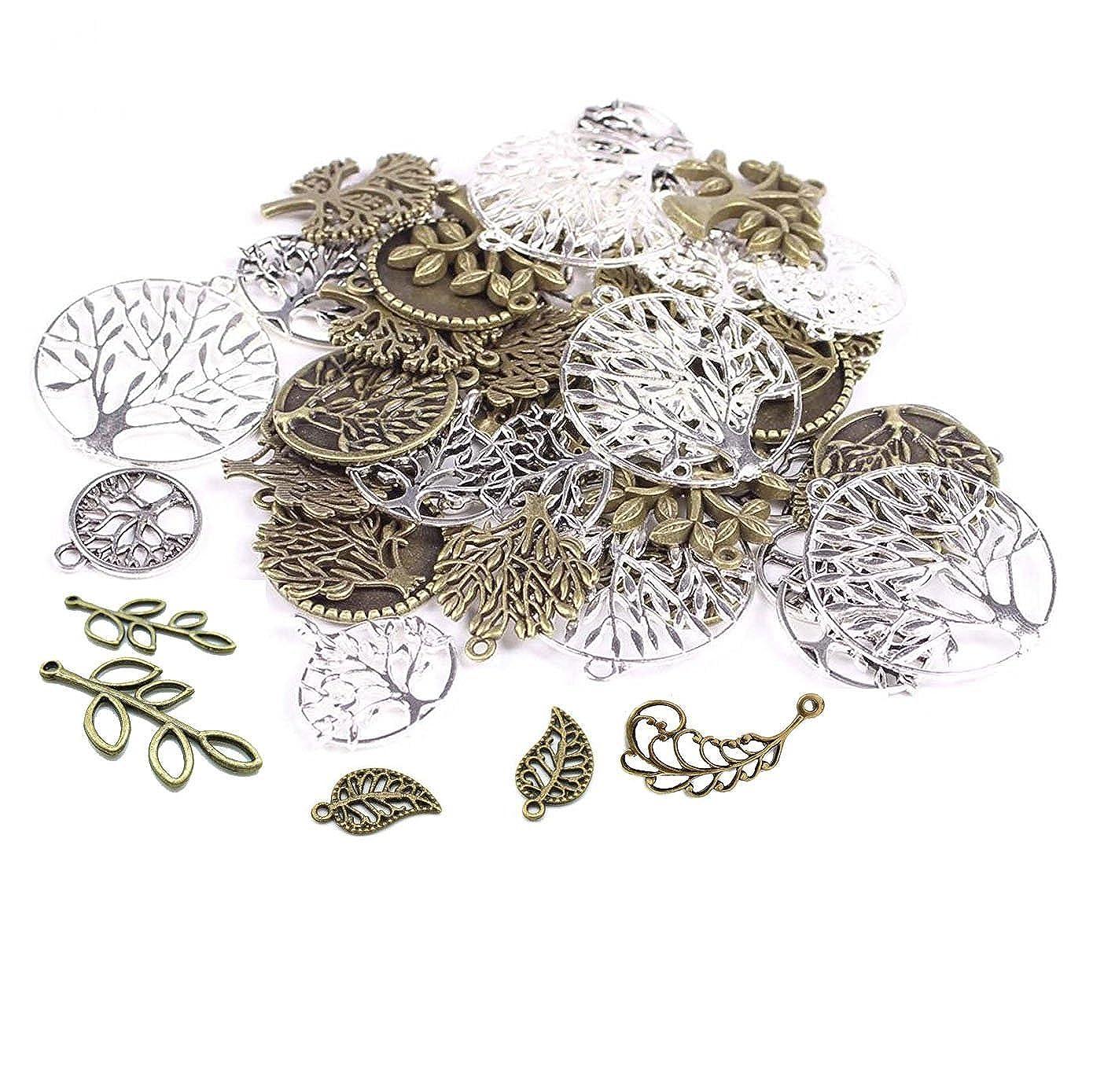 60PCS Tree& Flower& Leaf Antique Charms Beads Alloy Pendant Craft Accessory DIY Necklace Bracelet Craft Jewelry Making Supply HK12 … DAYONE JEWELRY LTD 1017SOWZVYQ