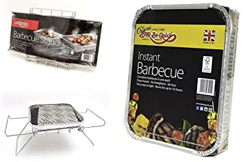 Bar-Be-Quick Instant barbacoa soporte plegable soporte para parrilla barbacoa. Se ajusta