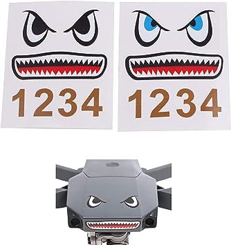 Opinión sobre Sticker para Drones con diseño de tiburón, Set de 2, Adecuado para los Drones como dji Mavic 2 Pro, dji Mavic 2 Zoom, dji Mavic Air y dji Mavic Mini, Pegatina Protectora de Cuerpo de calcomanía