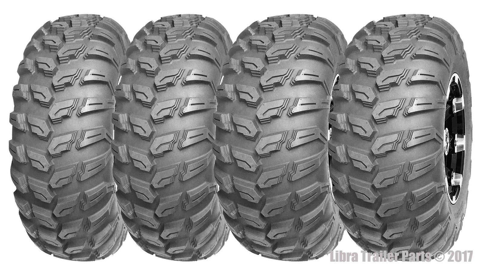 Set of 4 WANDA ATV/UTV Tires 26x9R14 Front & 26x11R14 Rear Radial 6PR Deep Tread