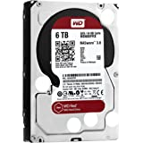 "WD Red WD60EFRX - Disco duro de 6 TB (SATA, 6 GB/s, 64 MB de caché, 3.5""), color blanco y rojo"