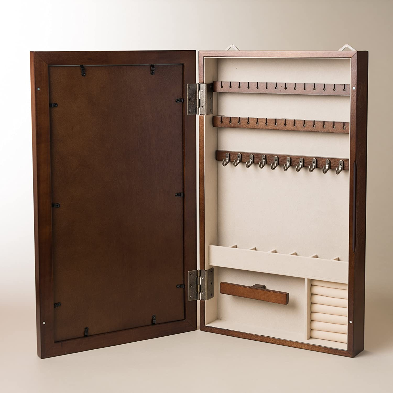 Amazon.com: Hives And Honey Collage Frame Jewelry Armoire, Antique Walnut:  Kitchen U0026 Dining