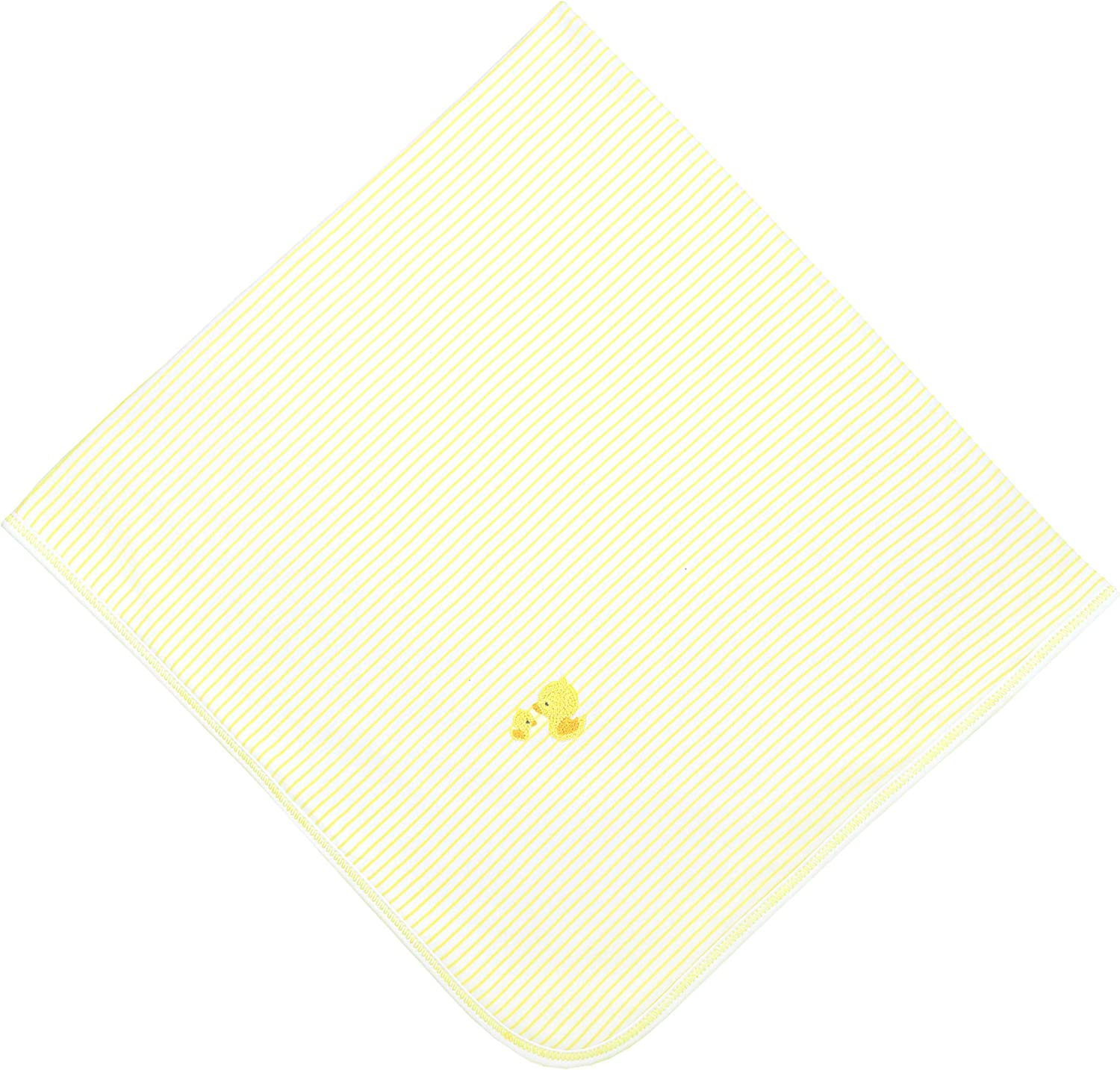 Magnolia Baby Unisex Baby Tiny Rubber Ducky Embroidered Receiving Blanket Yellow One Size