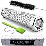Smoke Tube - 12'' Smoke Tube for Pellet Grill 5 Hours of Billowing Smoke, Stainless Steel Pellet Smoker Tube for All Grill or