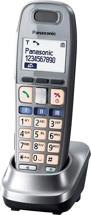 Panasonic KX-TGA659EXM - Teléfono fijo digital (inalámbrico, pantalla LCD, control de volumen), plateado: Amazon.es: Electrónica