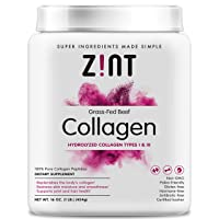 Zint Collagen Peptides Powder (16 Ounce): Anti Aging Hydrolyzed Collagen Protein...