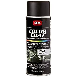 SEM Paints Satin Black Color Coat Aerosol