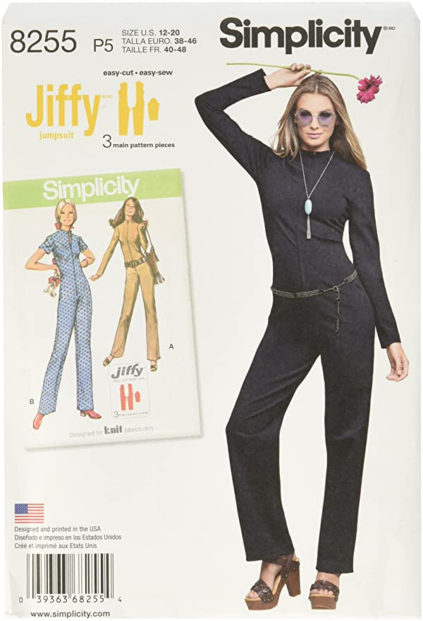 1960s – 70s Sewing Patterns- Dresses, Tops, Pants, Mens Simplicity Vintage Sewing Template 8255 1960s Fashion Womens Jumpsuit Sewing Pattern 2 Styles Sizes 12-20 $4.24 AT vintagedancer.com