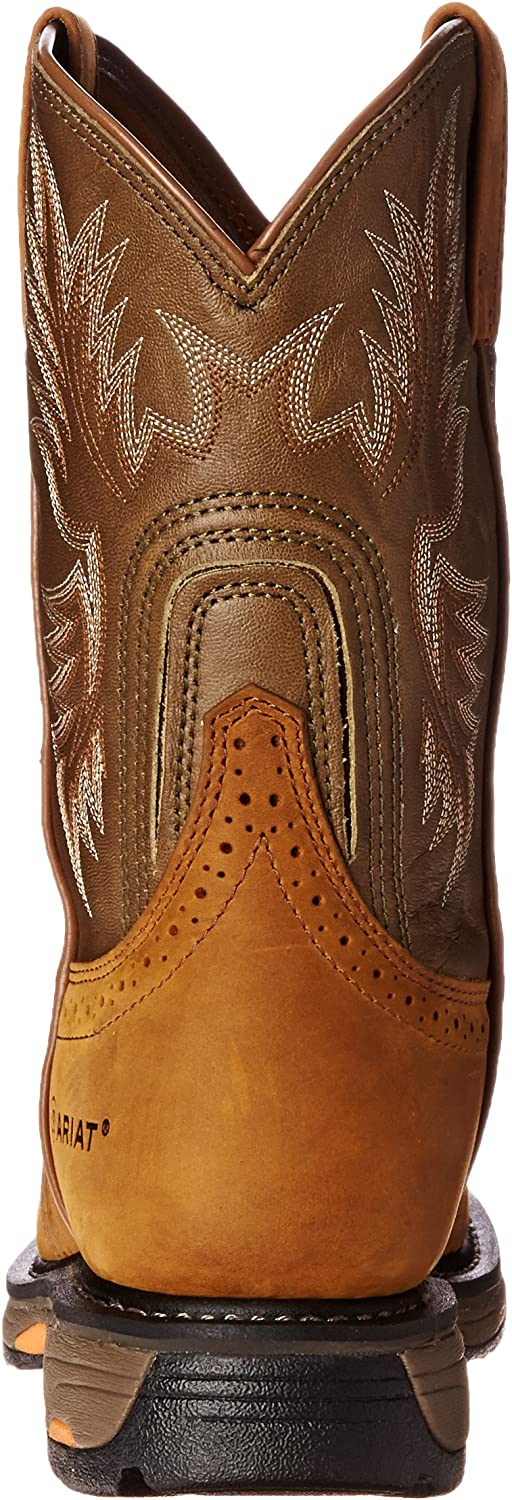   Ariat Workhog Pull-on Work Boot – Men's Leather, Round Toe, Western Work Boot   Industrial & Construction Boots