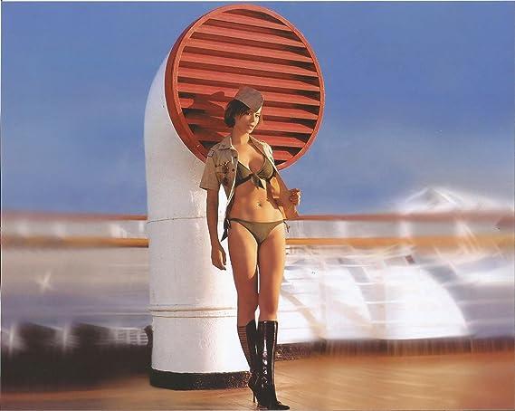 Camo Black Boots2 Weariing Photo Bikini Catherine Bell 8x10 Green 4Rj5L3cAq