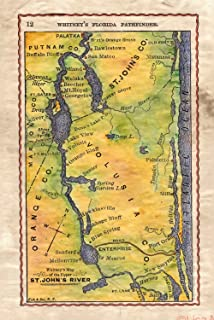 Ft Myers Florida Map.Amazon Com Great River Arts The Lee Island Coast Florida Fort