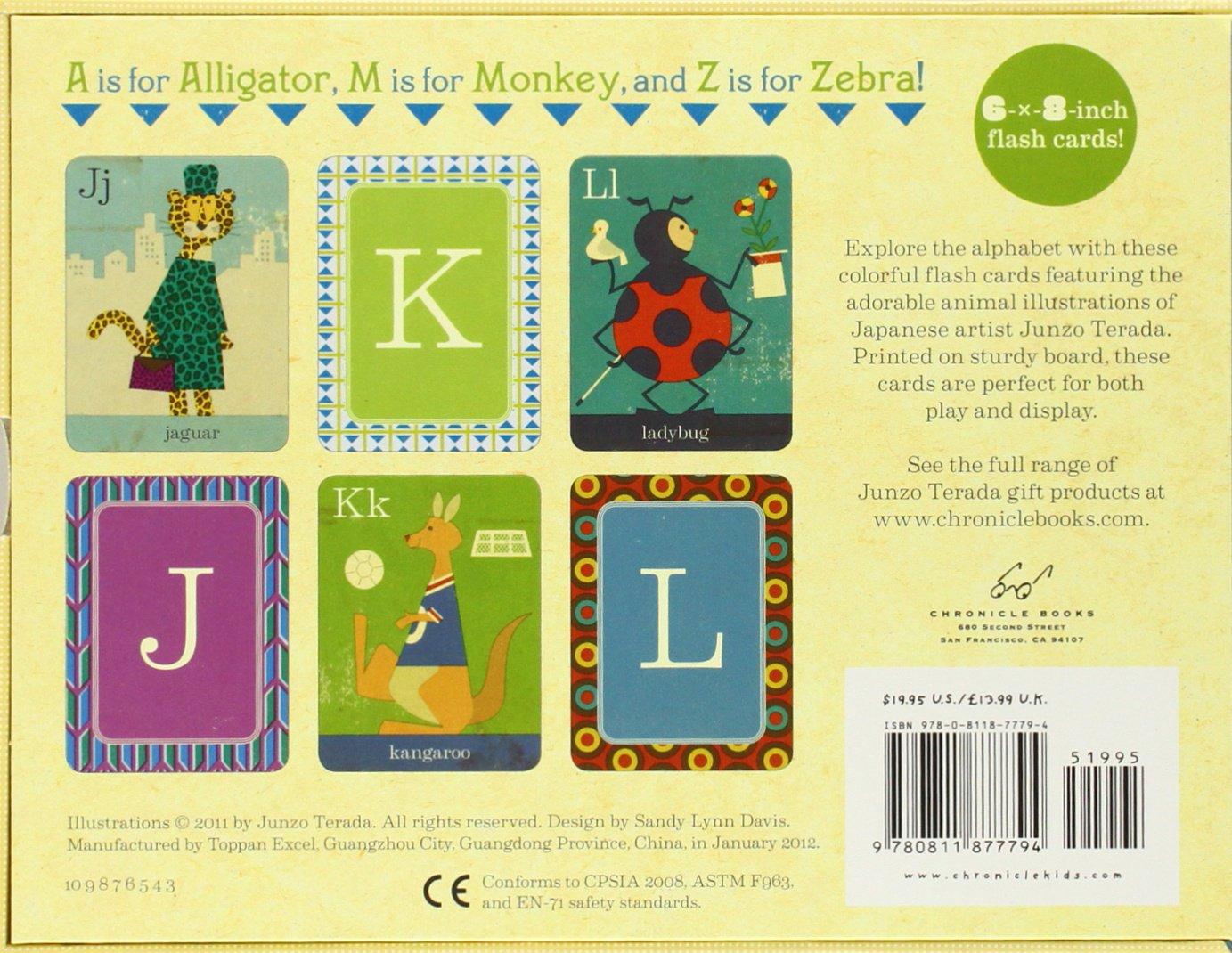 Animal Fun from A to Z: Decorative Flash Cards: Junzo Terada ...