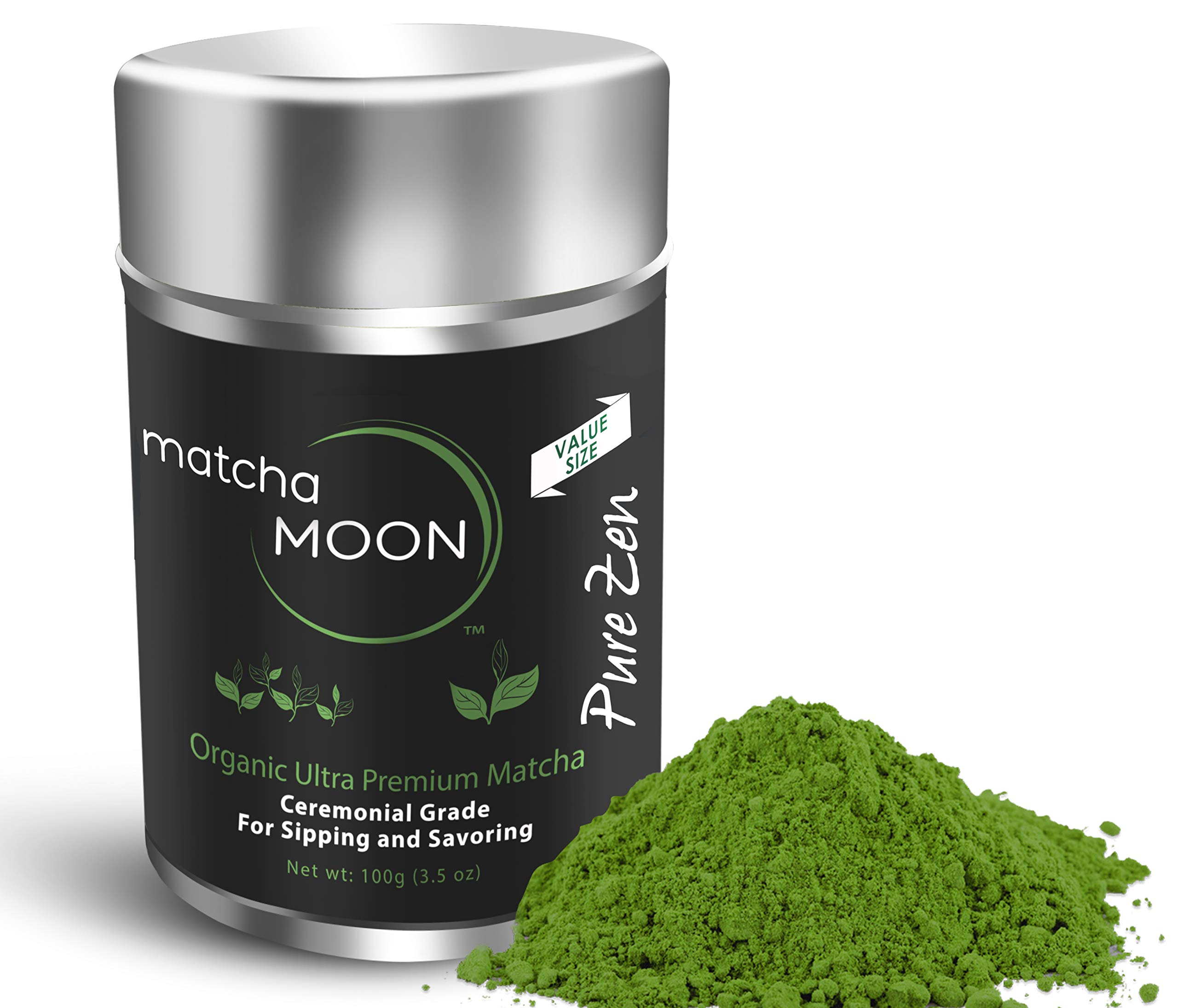 Matcha Moon - Organic Ceremonial Grade Japanese Matcha Green Tea Powder from Uji Kyoto Japan - Authentic, Premium, USDA Certified - Best For Traditionally Whisked Tea - Pure Zen - Value Size 100g Tin by Matcha Moon (Image #9)