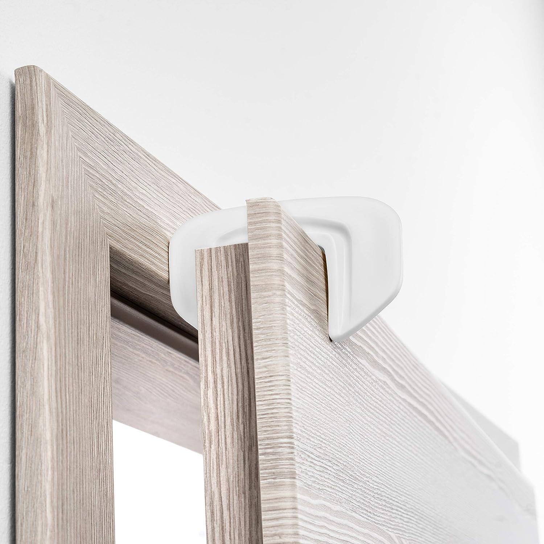 Pack 3 ud Coona Premium Protecci/ón para Puertas beb/é Tope para puertas blanco Protector Dedos Seguridad para ni/ños