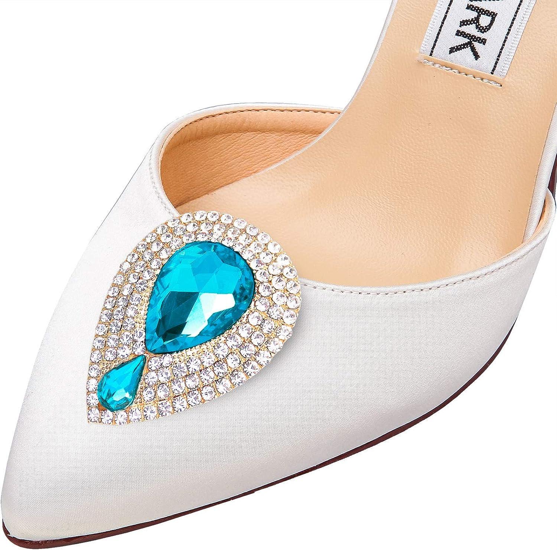 Elegantpark Clips de chaussures de conception de gouttelettes deau D/écorations de bijoux Charms Accessoires de noce