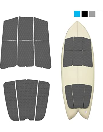 e9d089e6eec7 Abahub 9 Piece Surf Deck Traction Pad Premium EVA with Tail Kicker 3M  Adhesive for Surfboard