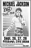Michael Jackson 1988 Bad Tour Retro Art Print — Poster Size — Print of Retro Concert Poster — Features Michael Jackson, LaVelle Smith, Evaldo Garcia, Randy Allaire and Dominic Lucero .