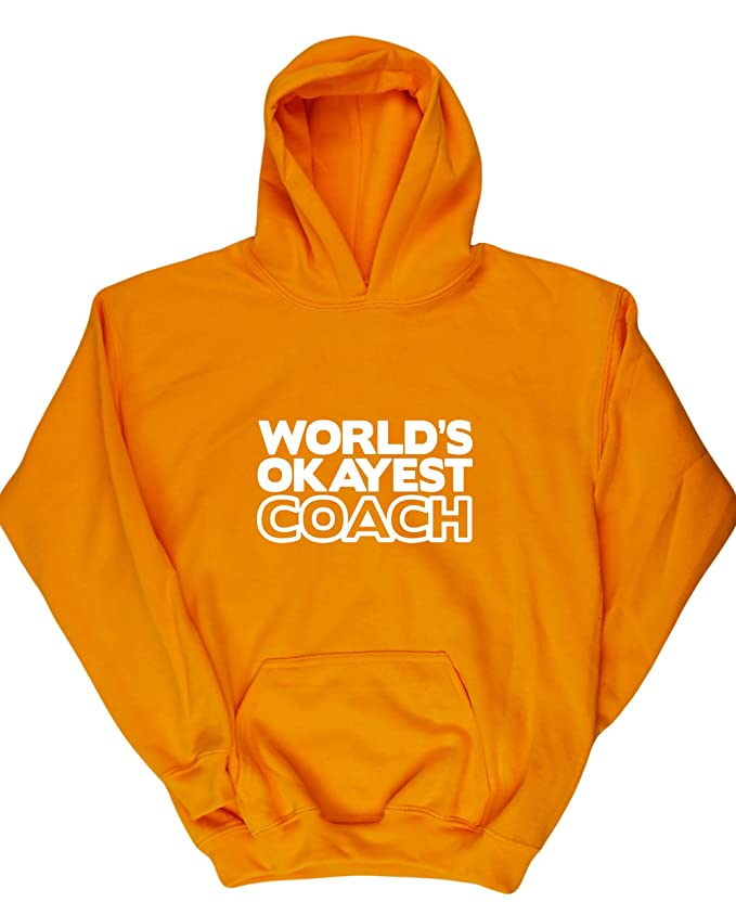 HippoWarehouse Worlds Okayest Coach kids childrens unisex Hoodie hooded top: Amazon.es: Ropa y accesorios