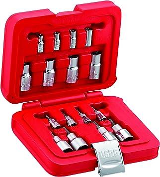 USAG U06010009 - Pack de 16 piezas surtido de llaves de vaso Torx en caja modular: Amazon.es: Bricolaje y herramientas