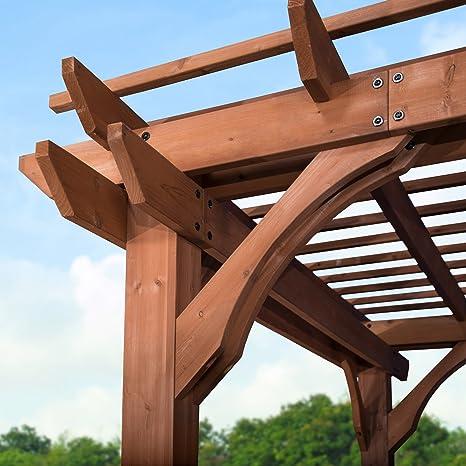 Backyard Discovery 1802513 - Cedro de madera (pergola, 25, 4 x 35, 5 cm), color rojo: Amazon.es: Jardín