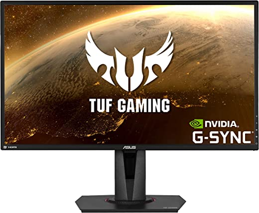 ASUS TUF Gaming VG27AQ HDR Gaming Monitor – 27 inch WQHD (2560x1440), IPS, 155Hz*, ELMB Sync™, G-SYNC Compatible, Adaptive-sync, 1ms (MPRT), HDR10