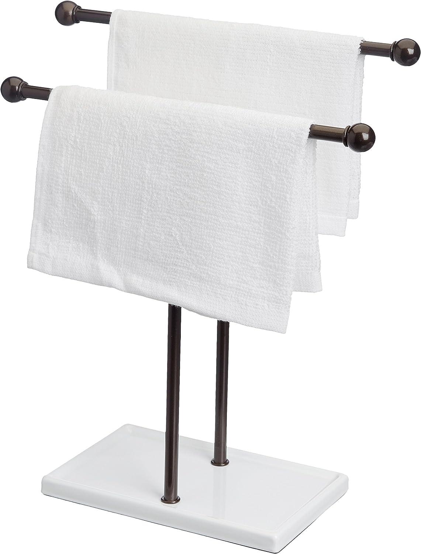 accessoires et bijoux en double T Basics Porte-serviette bronze//blanc