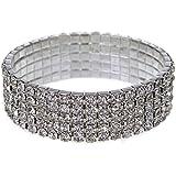 WAWO Gergous Diamante Crystal Bracelet Strechable Bling Bling Bracelet
