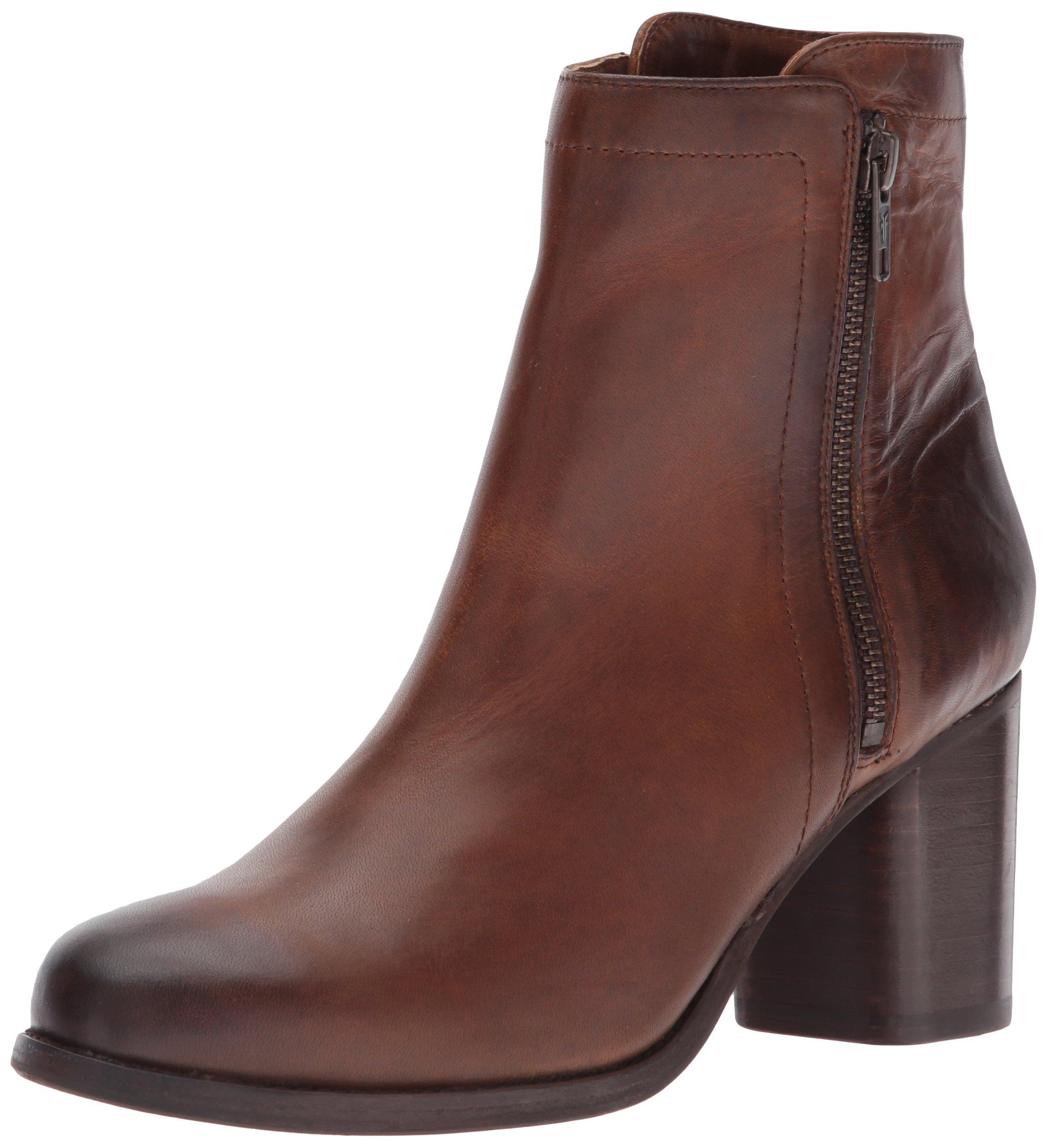 FRYE Women's Addie Double Zip Boot, Whiskey Oil Tanned Full Grain, 8 M US