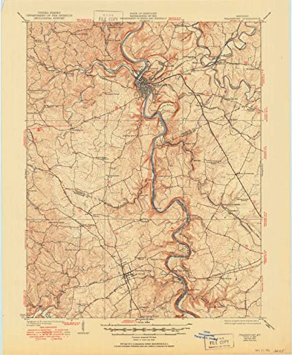 frankfort ky map
