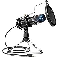 ELEGIANT Micrófono PC USB, Micrófono de Condensador con Trípode para Grabación de Estudio, Audio Chat en Línea para…