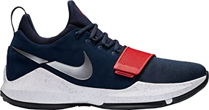 uk availability 2699d cde20 Image Unavailable. Image not available for. Color  Nike Mens PG 1  Basketball Shoes (Navy Red White ...