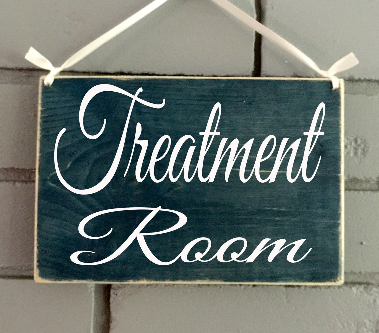 Prim and Proper Decor Treatment Room 8x6 (Choose Color) Custom Rustic Wood Spa Door Sign