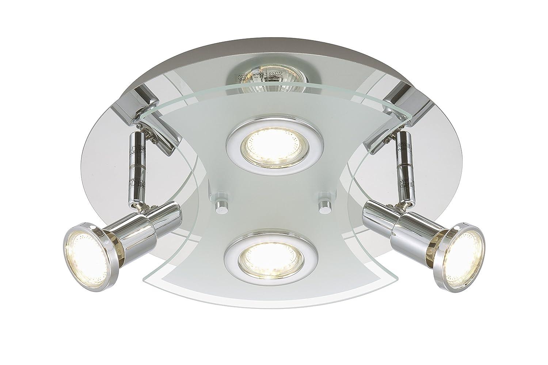 Briloner Leuchten 2159 048LM A Deckenleuchte Deckenlampe LED Strahler Spots Wohnzimmerlampe Metall 3 W Chrom 30 X 11 Cm Amazonde