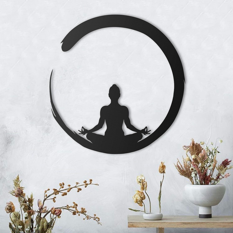 Amazon Com Mediation Zen Metal Wall Art Wall Decor Home Decor Signs Bedroom Living Room Bathroom Office Kitchen Handmade