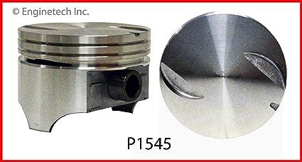 Amazon com: Enginetech P1545(8)040 Piston GM 7 4L 454 Flat Top