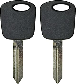 KeylessOption Uncut Blank Car Ignition Transponder Chip Master Key Blade for Mitsubishi