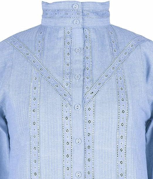 Azul Vintage Victorian Edwardian Batista Algodón blusa de precisa patrones para coser