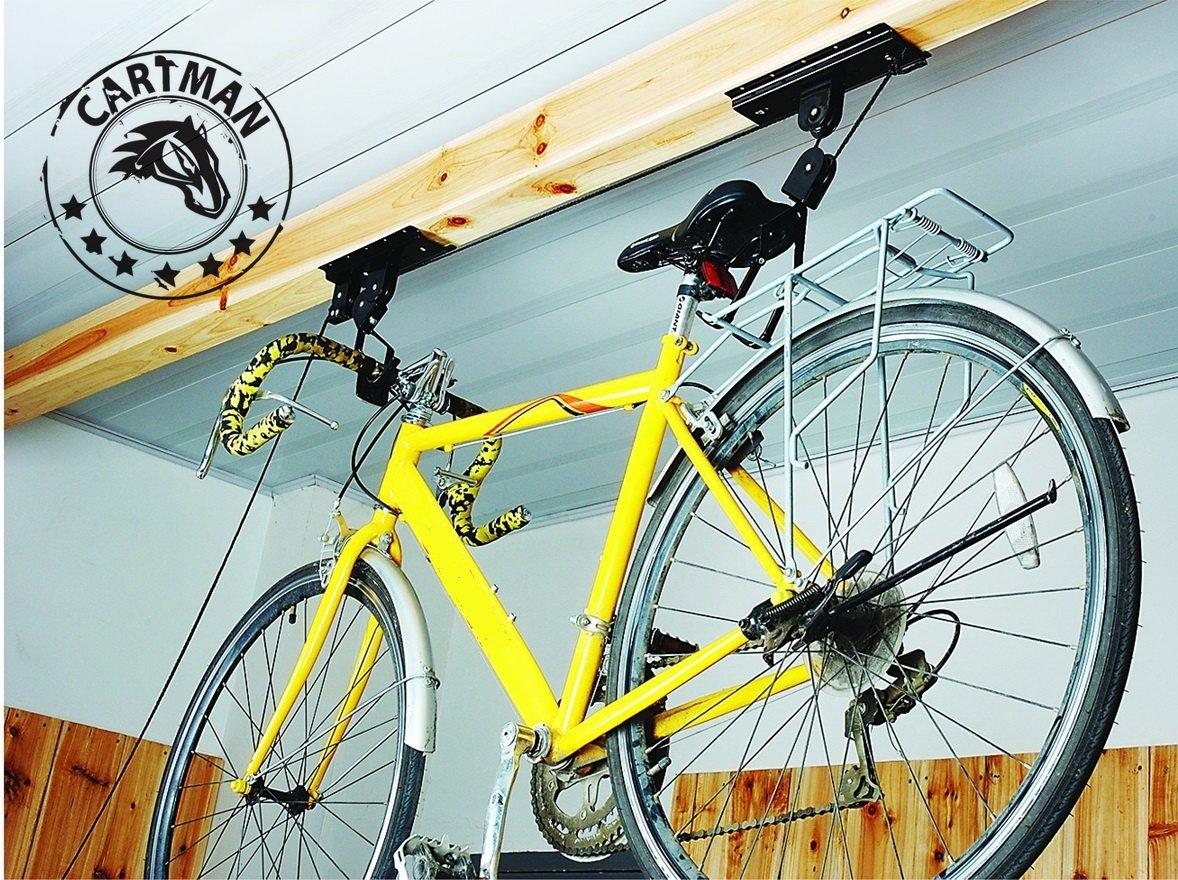 2 Packs Garage Utility Ceiling-Mounted Bike Lift, Mountain Bicycle Hoist AX-AY-ABHI-116801 CARTMAN