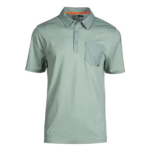 5.11 Tactical Mens Axis Short Sleeve Shirt Polo, Abrasion ...