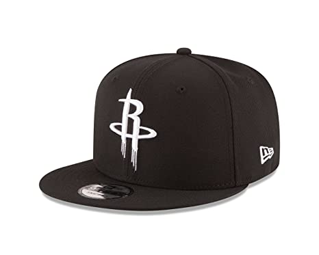 buy online ab020 b45a8 Amazon.com   New Era NBA Houston Rockets Men s 9Fifty Snapback Cap, One  Size, Black   Sports   Outdoors