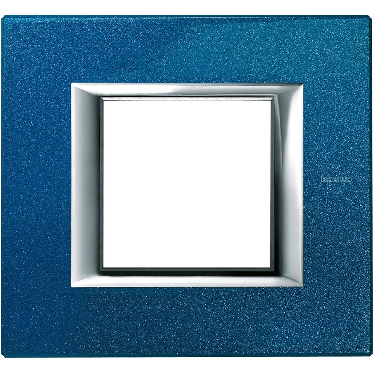Placa 2 m/ódulo axolute azul meissen Bticino axolute