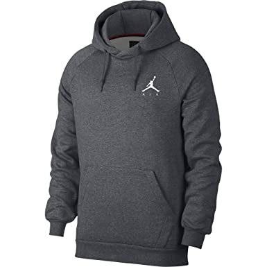 f049f1ca7064bd Jordan Nike Mens Jumpman Fleece Pull Over Hoodie Carbon Heather White  940108-091 Size