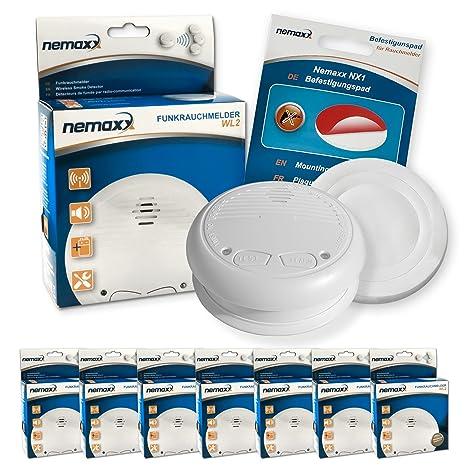 Nemaxx WL2 Detector de Humo Según la Norma DIN EN 14604 y NX1 Soporte magnético contra
