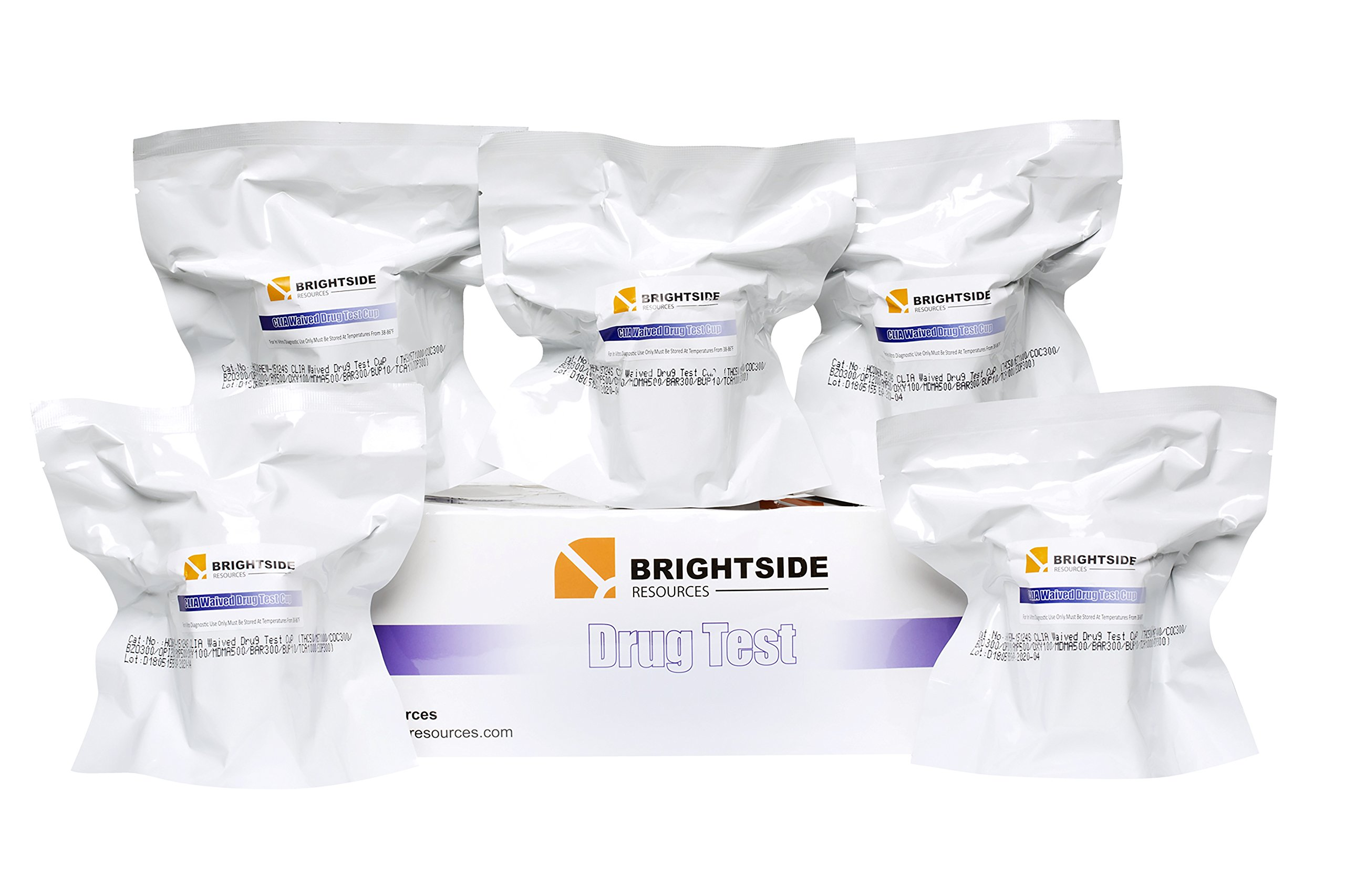 Brightside Resources 12 Panel Instant Urine Drug Test - Pack of 5 - for at Home & Medical Use - Accurate & Easy to Understand - THC, COC, OPI, OXY, Bar, TCA, MET, BZO, AMP, MDMA, BUP, Methadone by Brightside Resources (Image #7)