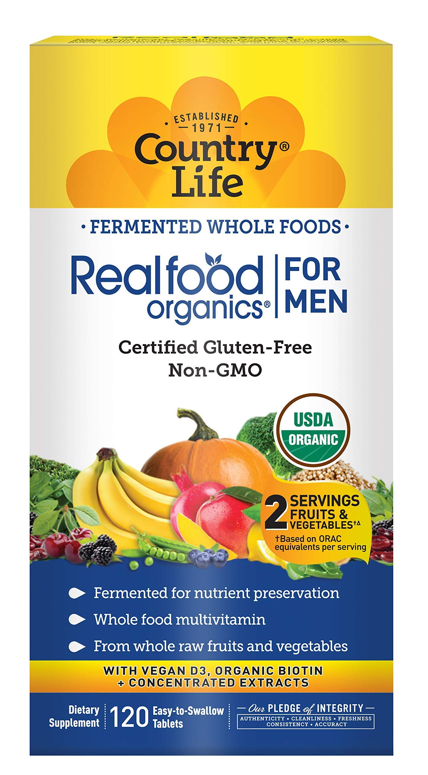 Country Life Realfood Organics Men's Daily Nutrition - 120 Tablets